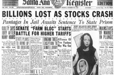 Wall Street Crash 1929 headline