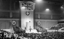 Mosley speaks at Earl's Court