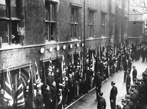 Parade at BUF HQ, Black House, Chelsea