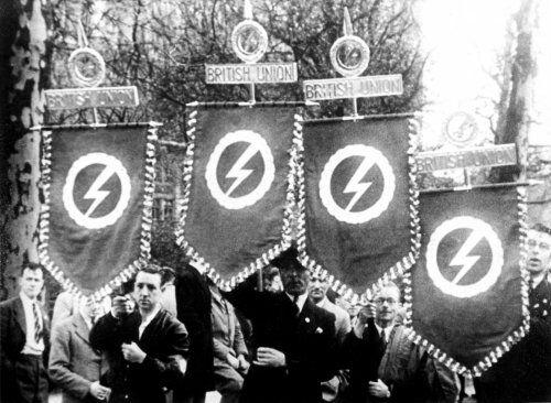 Oswald Mosley - British fascists parade