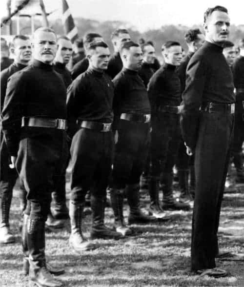 "Oswald Mosley and members of the ""I Squad"""