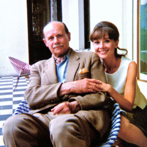 Audrey Hepburn and her father 1964