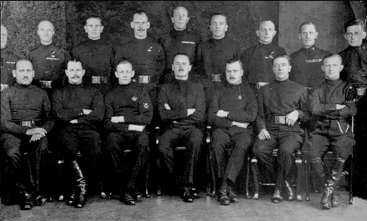 Blackshirts seated 1935 | Oswald Mosley | Briton - Fascist - European.