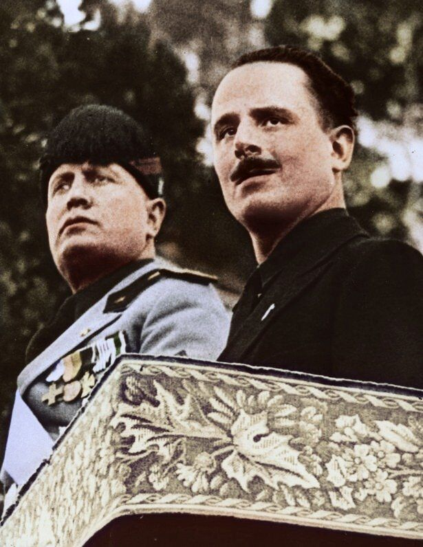 Mussolini and Oswald Mosley, 1933.